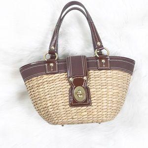 Coach straw bag